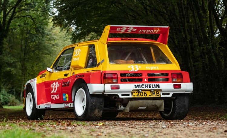 rear of 1985 MG Metro 6R4