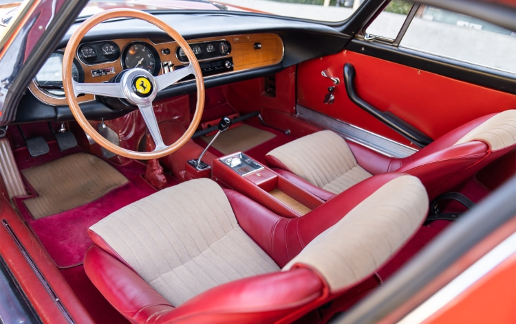 interior of 1966 Ferrari 275 GTB Long Nose