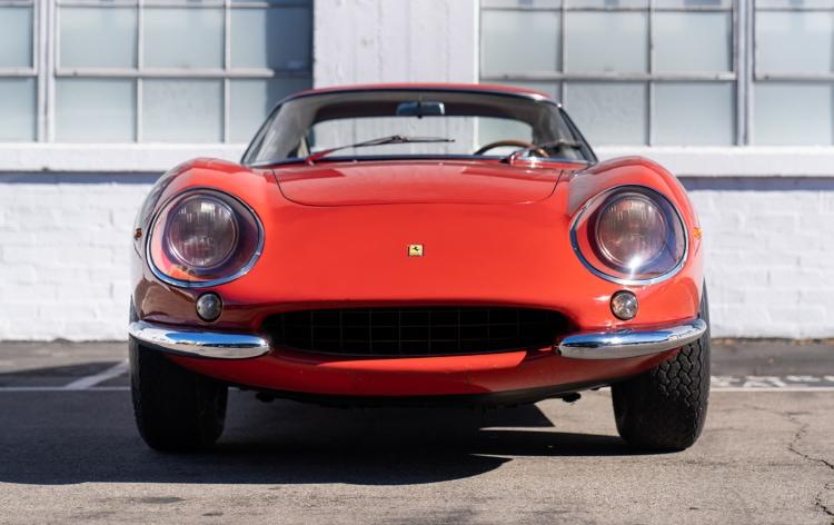 front of 1966 Ferrari 275 GTB Long Nose