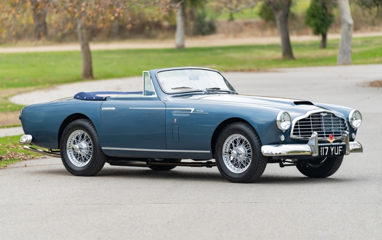 1954 Aston Martin DB2/4 Drophead Coupe at Gooding & Company Geared Online 2021 Scottsdale Auction