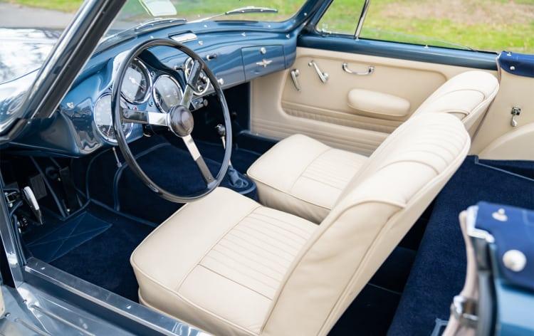 interior of 1954 Aston Martin DB2/4 Drophead Coupe