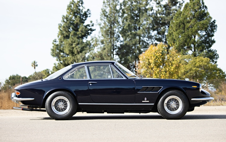side of 1967 Ferrari 330 GTC