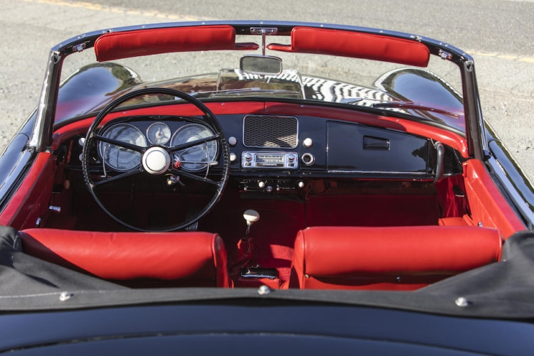 interior of 1959 BMW 507 Series II Roadster