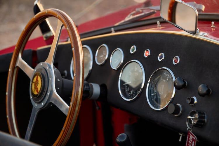interior of 1955 Arnolt-Bristol Bolide