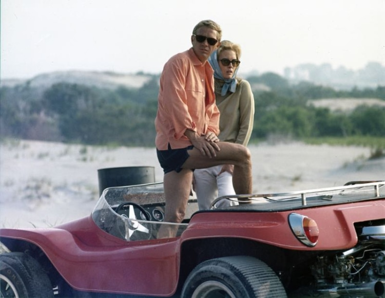 Steve McQueen with Faye Dunaway
