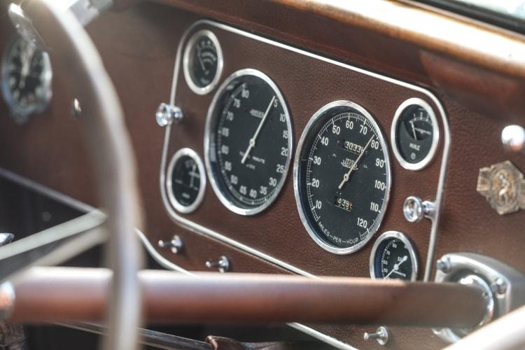interior of Bugatti Type 57S Atalante