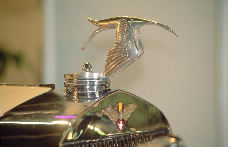 The stork, the emblem of Hispano Suiza