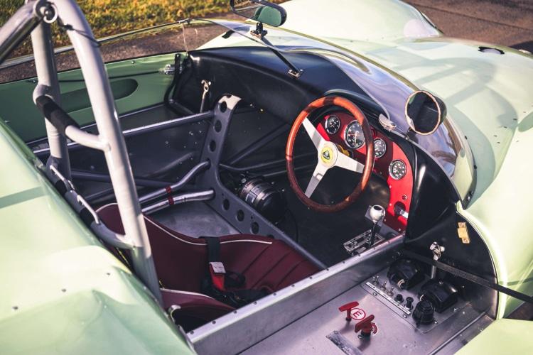 interior of 1960 FIA Lotus 19 Monte Carlo