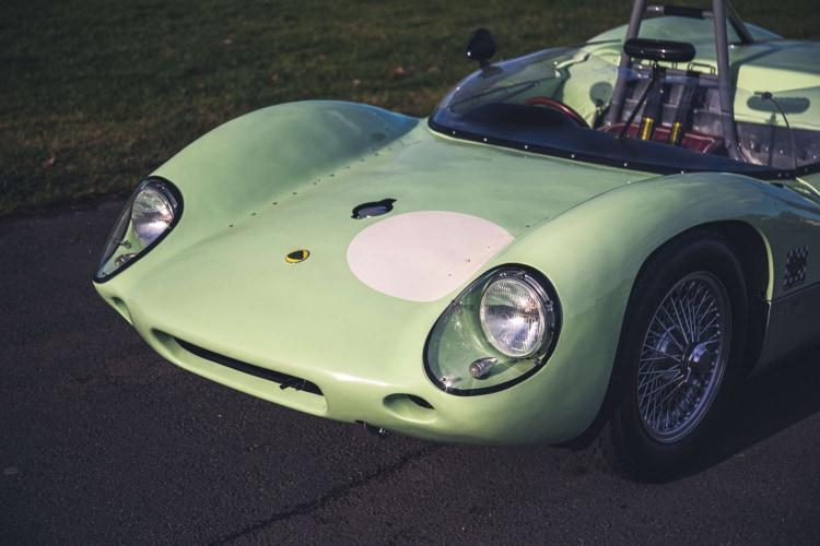 front of 1960 FIA Lotus 19 Monte Carlo