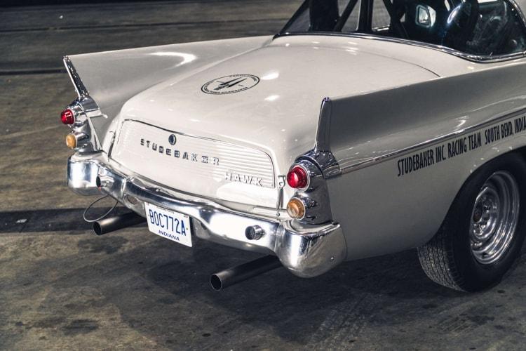 back of 1959 Studebaker Silver Hawk Racer