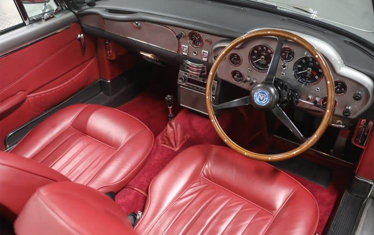 interior of 1963 Aston Martin DB5 Convertible