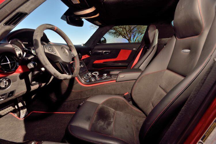 interior of 2014 Mercedes-Benz SLS AMG Black Series