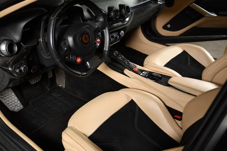interior of 2013 Ferrari F12berlinetta