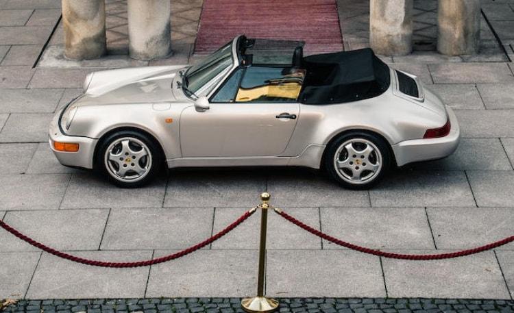 side of 1992 Porsche 911 Type 964 Carrera 2 Convertible Works Turbo Look