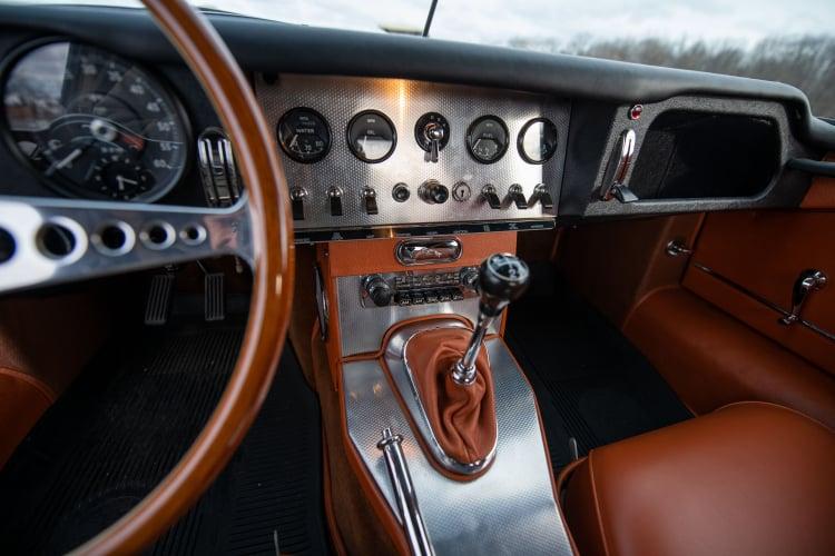 interior of series one Type E Jaguar