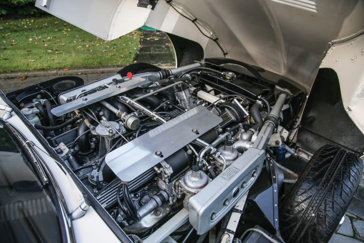 V12 engine of E-Type Jaguar