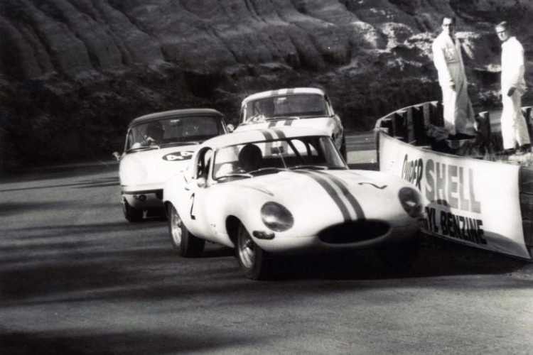 racing the Jaguar