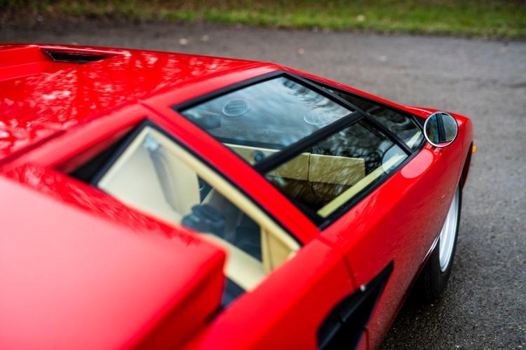 close up of Lamborghini Countach LP400 Periscopio by Bertone