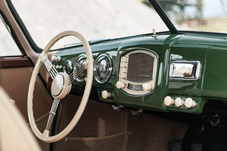 interior of 1952 Porsche 356 Coupe by Reutter