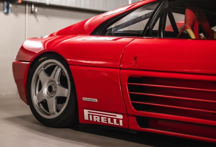 side of 1994 Ferrari 348 GT Michelotto Competizione