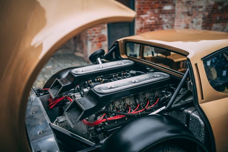 engine of 1974 Ferrari 365 GT4 BB