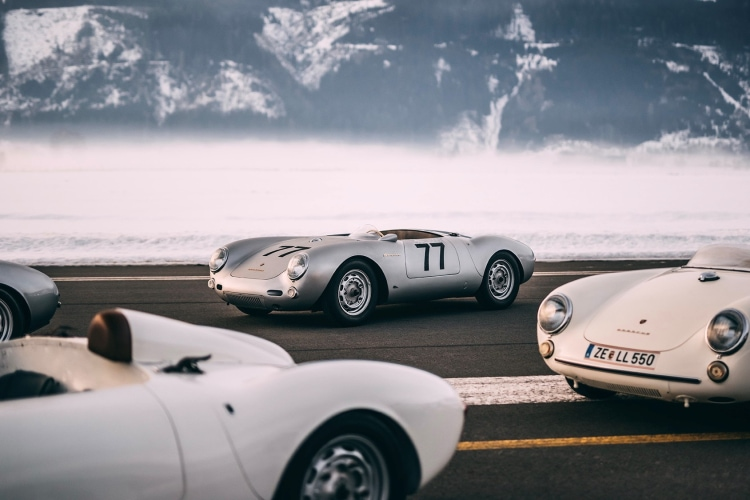 History of the GP Ice Race with Porsche 550 Spyder