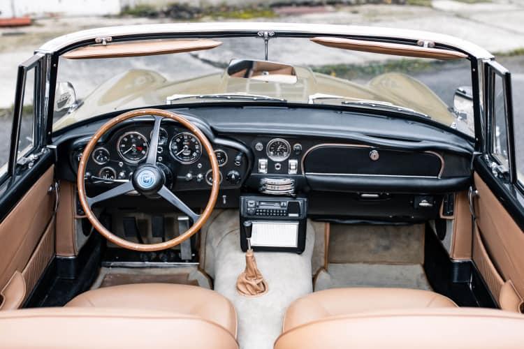 interior of 1965 Aston Martin Short Chassis Volante