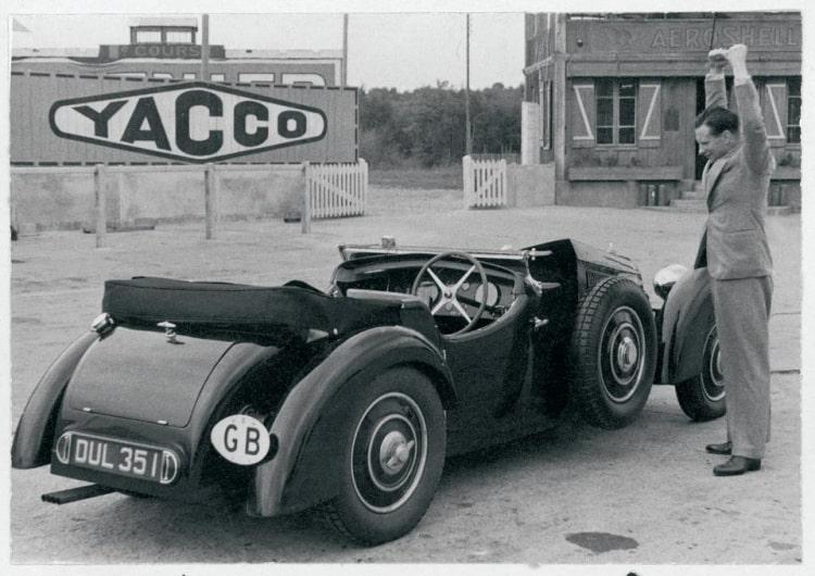 back of 1937 Bugatti Type 57 Surbaisse