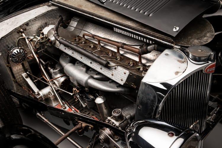 engine of 1937 Bugatti Type 57 Surbaisse