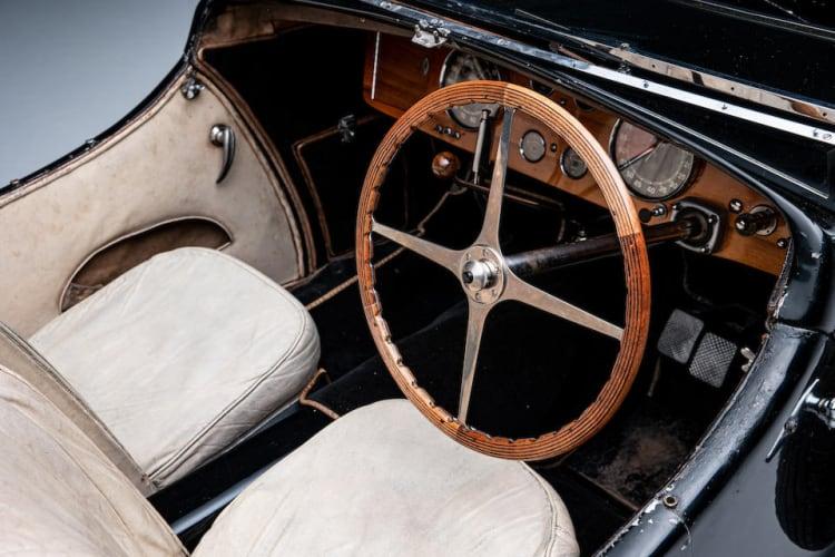 interior of 1937 Bugatti Type 57 Surbaisse