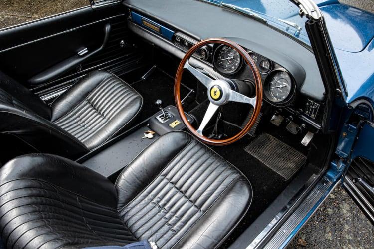 interior of 1965 Ferrari 275 GTS