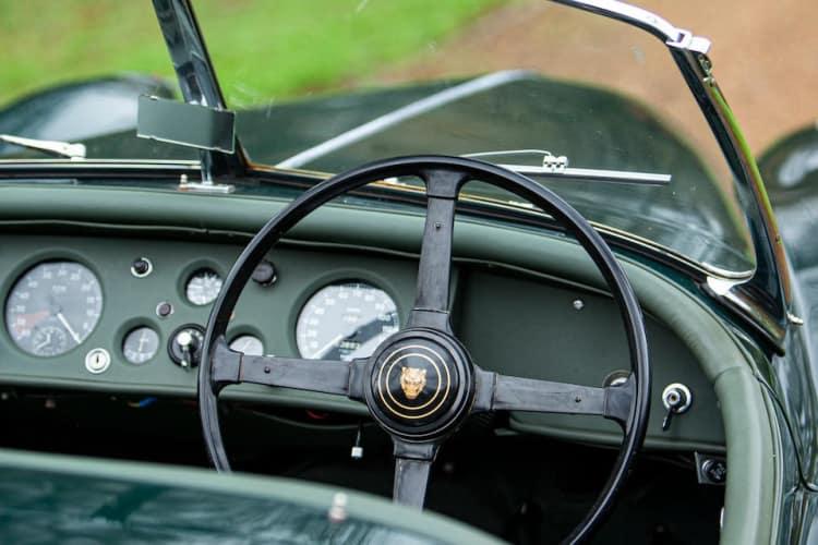 interior of 1955 Jaguar XK140 3.8-litre Roadster