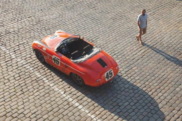 Ron Szasszer with his 356 A 1600 Super Speedster