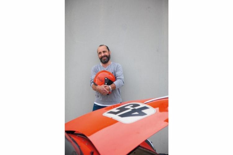Ron Szasszer behind his 356 A 1600 Super Speedster
