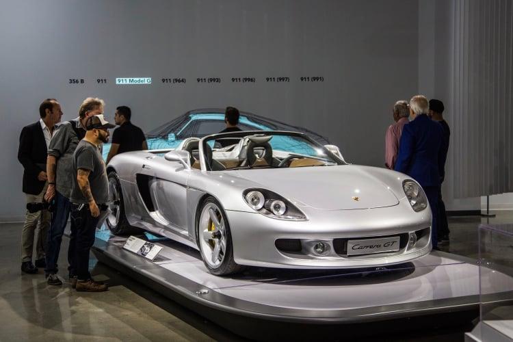 Porsche Carrera GT on display