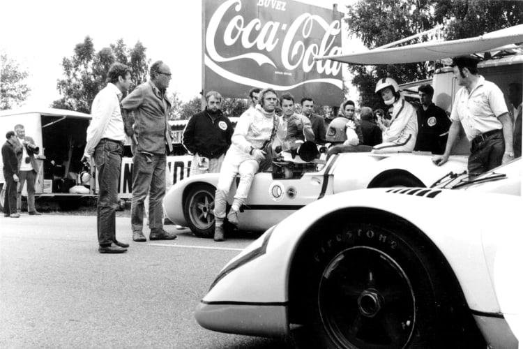 Steve McQueen with Porsche