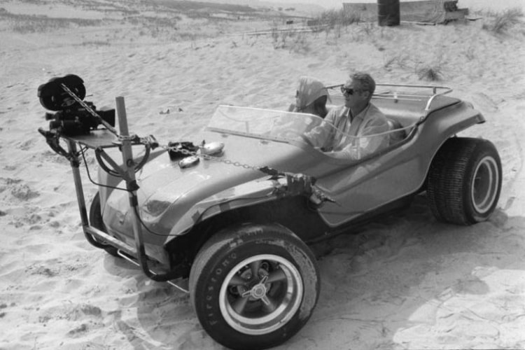 Steve McQueen driving the Myers Manx