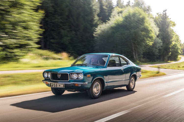 driving the Mazda Rx3