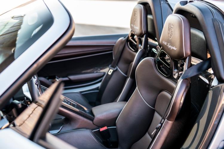 interior of 2015 Porsche 918 Spyder