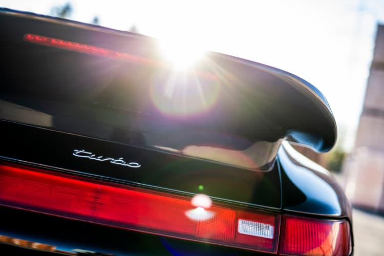 rear of 1995 Porsche 911 Turbo Cabriolet
