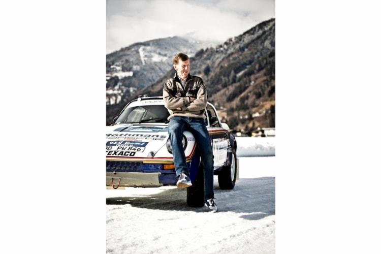 sitting on Porsche