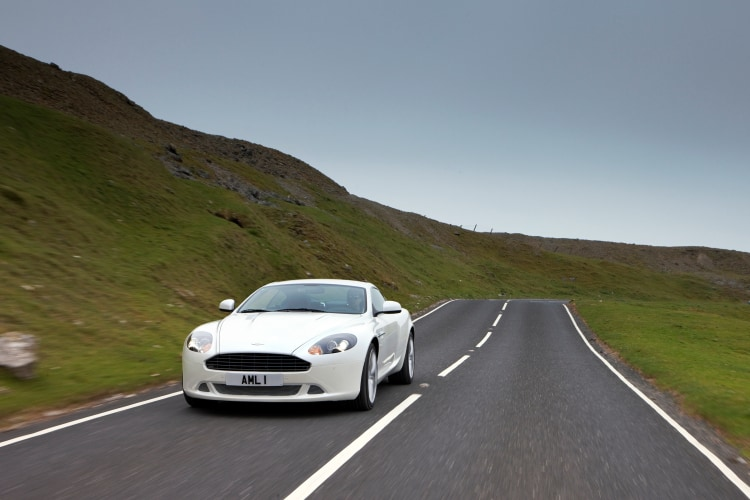 Driving the Aston Martin DB9