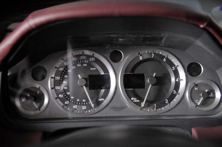 Speedometer of Aston Martin