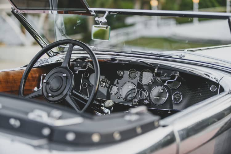 interior of 1929 Duesenberg Model J