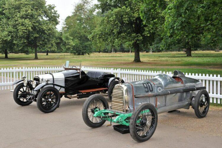 1921 Aston Martin A3 with the 1922 Aston Martin Race Car