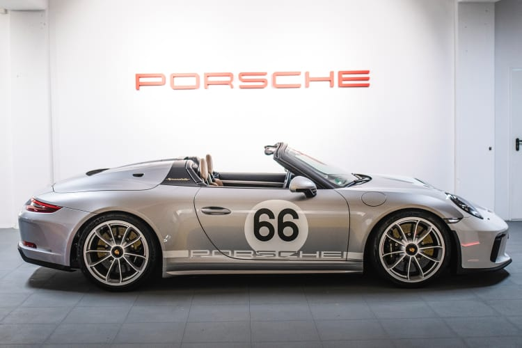 side of 2019 Porsche 911 Speedster