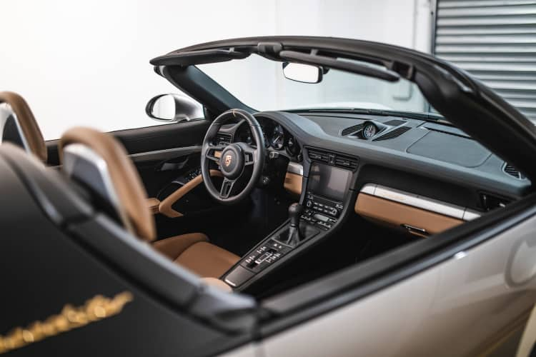 interior of 2019 Porsche 911 Speedster