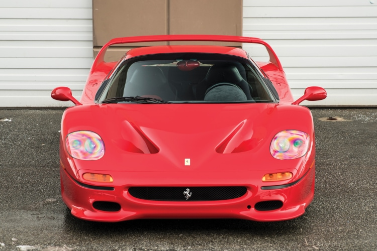 front of Ferrari F50