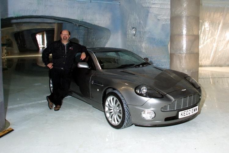 Me next to the Aston Martin