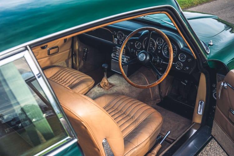interior of  Aston Martin DB6 Mk2 Vantage